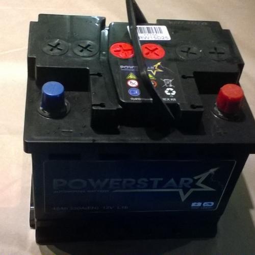 Powerstar 45Ah 330A(EN) 12V L1b ERW15D25 Eredeti ár. 17900.- 16000Ft